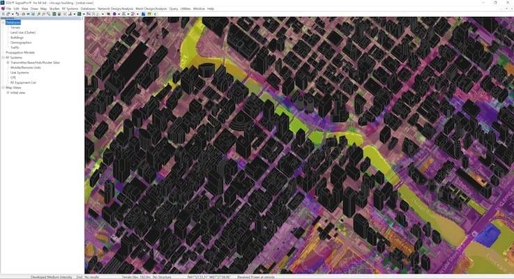 wireless planning software 3d data