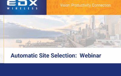 Automatic Site Selection:  Webinar